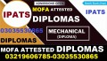 Experience based attested 1 & 2 YEARS DIPLOMAS AND DAE 3 YEARS PROFESSIONAL DIPLOMAS