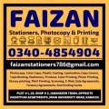 Faizan Stationers, Photocopy & Printing