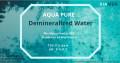 Demin water (Distalled Water)