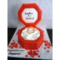Customized Fancy Engagement Cakes Order in Faisalabad